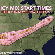 Hilariously Shaped Winter Storm Could Penetrate Midwest, Make Things Slippery