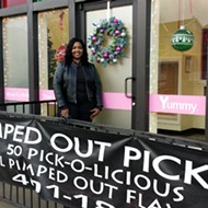 Pimped Out Pickles Has Two New Locations and Two Holiday-Appropriate Pickle Flavors To Try
