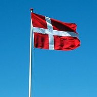 Sweet Scout Waves the Danish Flag