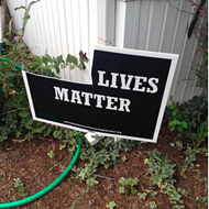 """Black Lives Matter"" Yard Targeted Again in Columbia, Illinois"