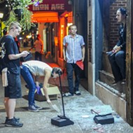 Smashed Windows Line the Loop After Late-Night Protest Turns