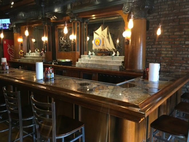 The new location has a vintage wooden bar and nautical feel. - CHERYL BAEHR