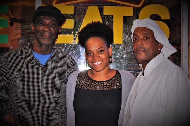 Owner Carlton Brackett, left, with daughter Latoy Brackett and brother Rohan Brackett. - PHOTO BY JESSY KINZEL