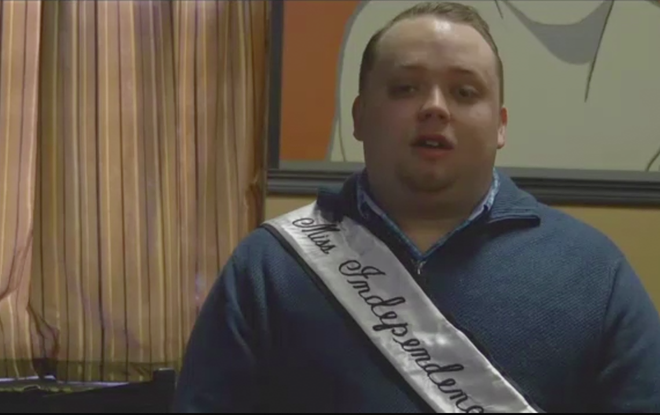 In his role as Miss Independence Place, Danny Vaughn organized a benefit — but initially had trouble finding a beneficiary. - IMAGE VIA YOUTUBE