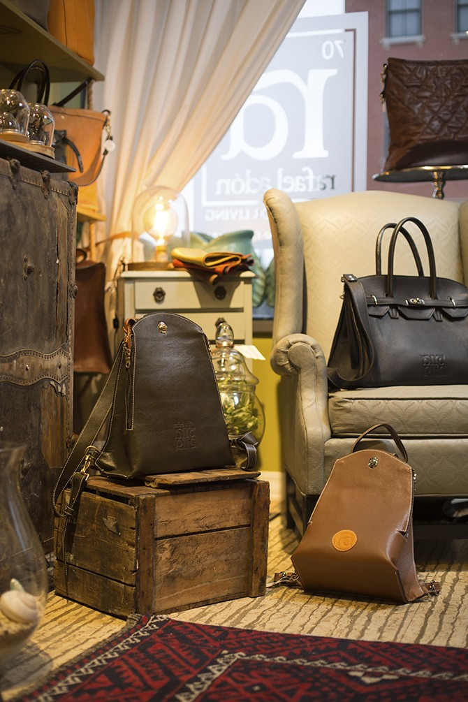 Rafael Adón: Lafayette Square's go-to spot for high-end handbags. - MATT SEIDEL