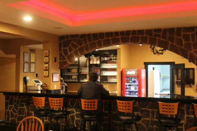 The bar at Eni's Pizzeria. - CHERYL BAEHR