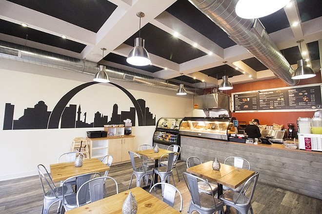 The restaurant is airy and light. - MABEL SUEN