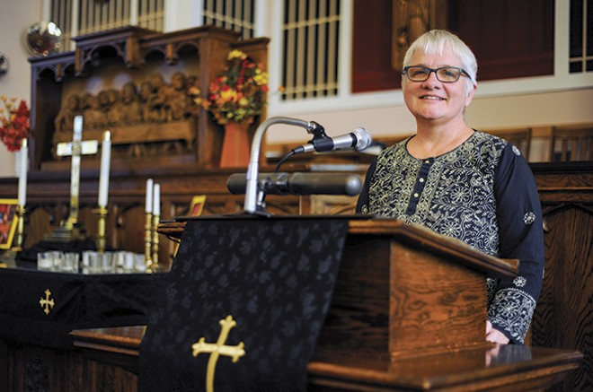 The Rev. Rebecca Turner says she hopes to inspire other congregations to offer sanctuary to undocumented immigrants. - KELLY GLUECK