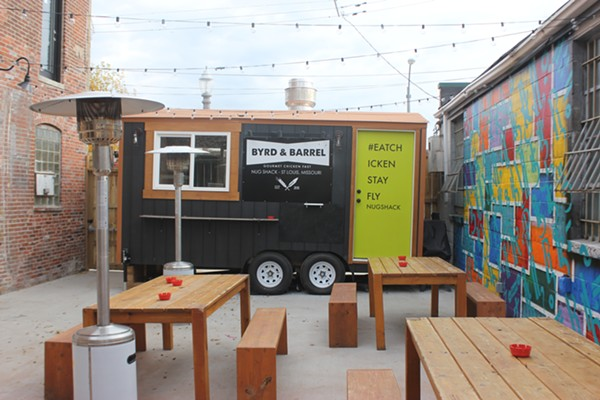 Byrd & Barrel's food truck has taken up permanent residence on the patio. - PHOTO BY MELISSA BUELT
