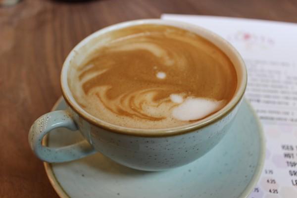 Almondmilk latte. - PHOTO BY LAUREN MILFORD