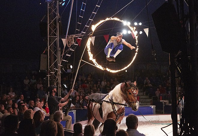 A Circus Flora performance in 2016. Each year is a different show, with performers brought in from around the world. - STEVE TRUESDELL