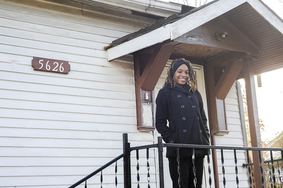 Donita Sims purchased her home in Walnut Park West for just $1,000. - KELLY GLUECK