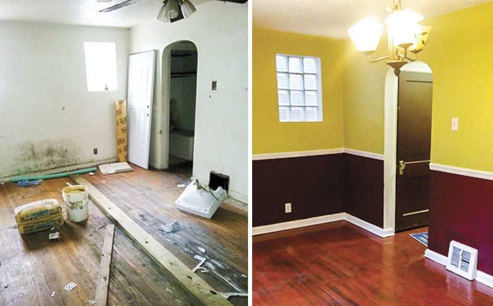 A bright coat of paint brought vibrancy to the house Eltoreon Hawkins acquired on his mother's behalf. - COURTESY OF ELTOREON HAWKINS
