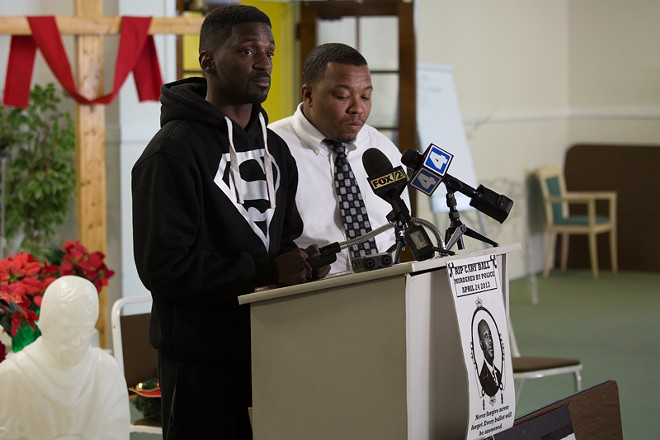 State Rep. Bruce Franks (D-St. Louis) and the family of Cary Ball Jr. are seeking answers. - DANIEL SHULAR