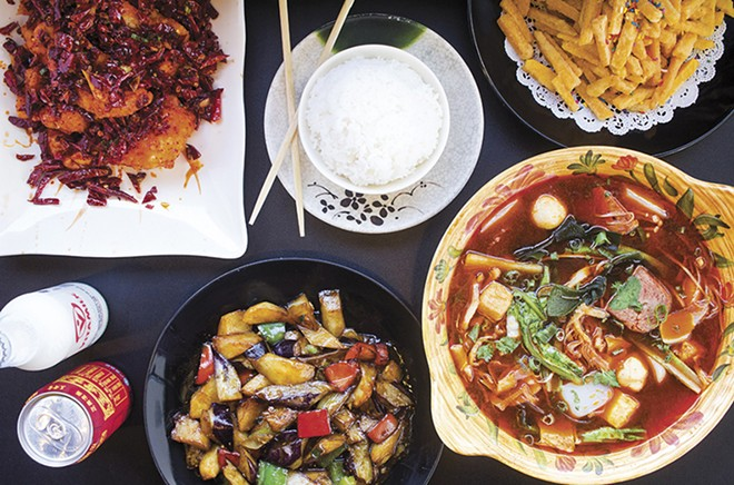 """""""Hot Crisp Fish"""" and mala soup are among the highlights at Cate Zone Chinese Cafe. - MABEL SUEN"""