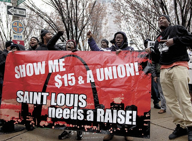 Governor Greitens gutted St. Louis' minimum wage increase. Then businesses stepped up. - CELINA DELLA CROCE