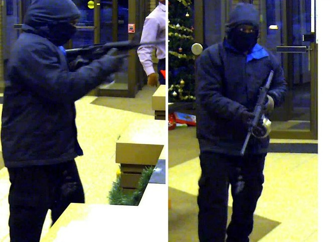 A left-handed robber knocked off Great Southern Bank on Tuesday in Ferguson. - IMAGES VIA FBI