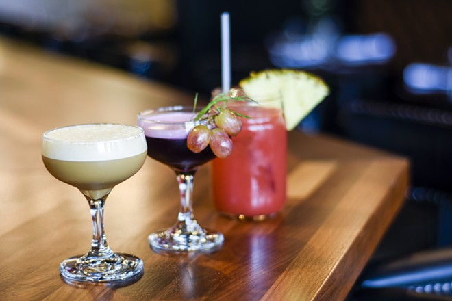 """The """"Chicory Milk Shake"""" (starring cold-brewed chicory and coffee), the """"Wise Blood"""" (featuring fennel-infused gin and port wine reduction) and the hurricane prove the kitchen has a way with a cocktail. - KELLY GLUECK"""