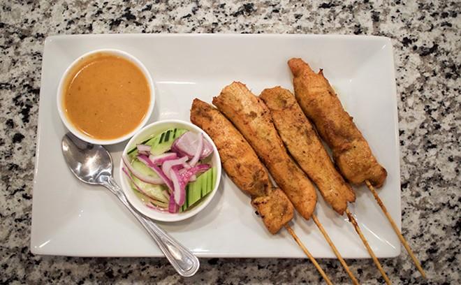 Chicken satay. - CHERYL BAEHR