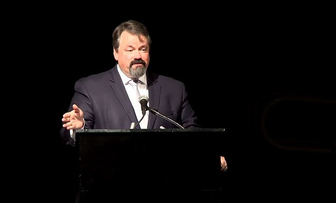 Columbia City Manager Mike Matthes' Martin Luther King Day presentation was like something out of The Office. - SCREENSHOT VIA YOUTUBE