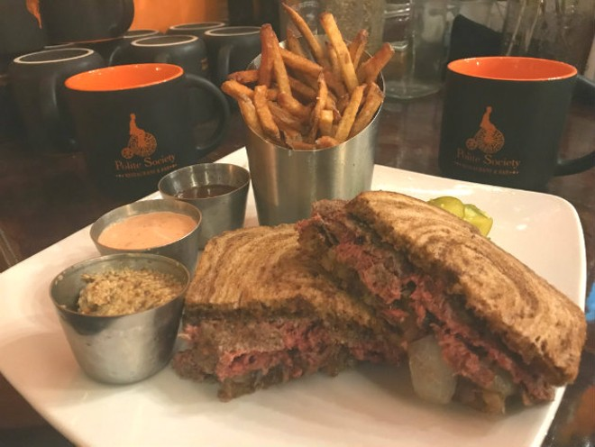 Polite Society is one of only two places in the state where you can eat the Impossible Burger. - COURTESY OF POLITE SOCIETY