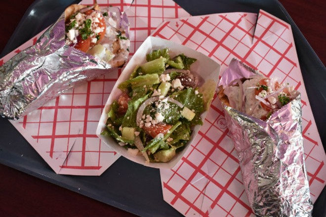 A selection of dishes from Go Gyro Go!. - DOYLE MURPHY