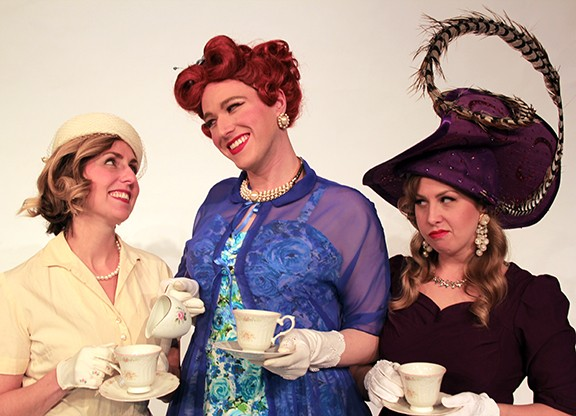 Ariel Roukaerts as Marta Towers, Will Bonfiglio as Mary Dale,  Shannon Nara as Pat Pilford. - JUSTIN BEEN