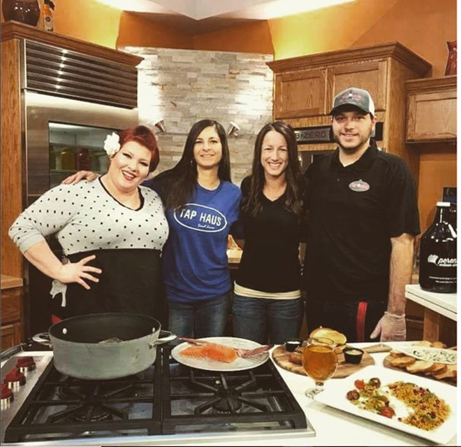 Chloe Yates of OSP Tap Haus, far left, is now a TV star. - COURTESY OF CHLOE YATES