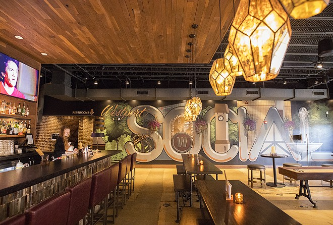 The place aims for an upscale vibe that's a far cry from Dave & Buster's. - MABEL SUEN