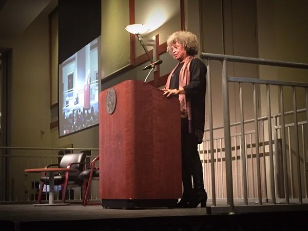 Angela Davis at Saint Louis University on February 14, 2018 - JAIME LEES