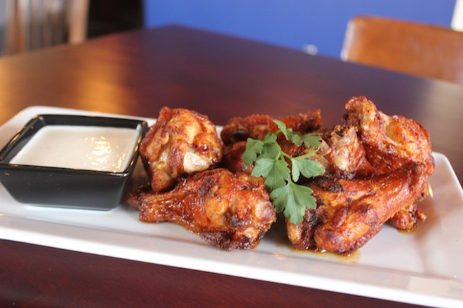 Cider-glazed wings — what could be more apropos? - SARAH FENSKE