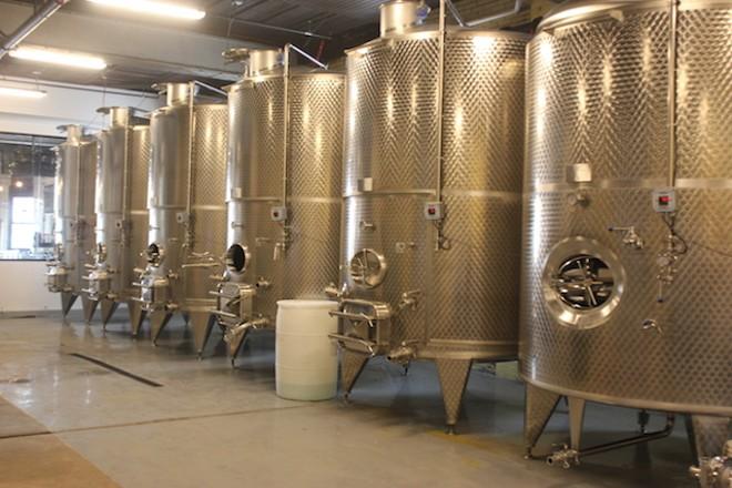 Brick River's tanks each hold 8,000 liters. - SARAH FENSKE