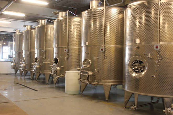 Brick River's tanks each hold 8,000 liters. - SARAH FENSKE