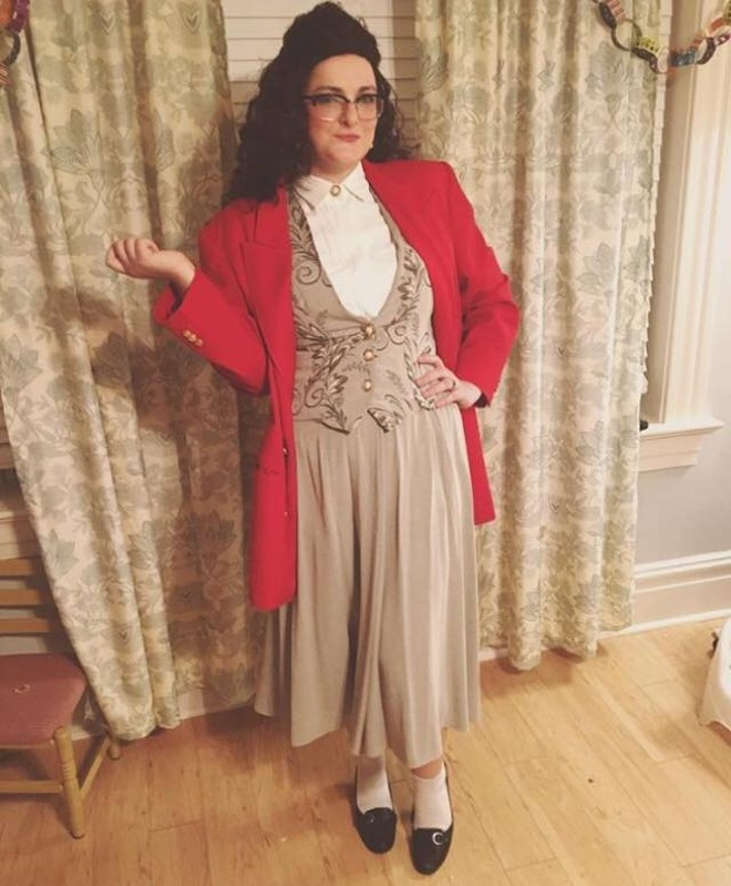 """Byrd as 90s icon Elaine Benes from Seinfeld. """"Get out!"""" - PHOTO COURTESY OF ELIZABETH BYRD"""