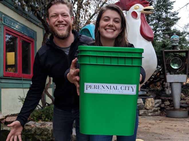 Tim Kiefer and Beth Grollmes-Kiefer. - COURTESY OF PERENNIAL CITY COMPOSTING