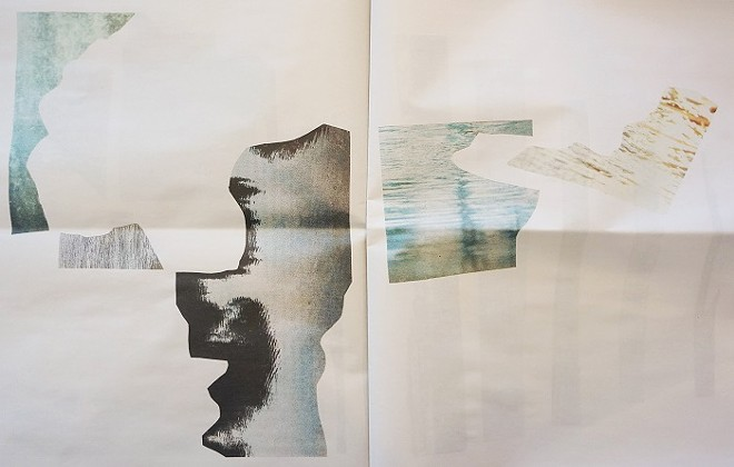 Untitled (water clippings). Digital print on newsprint. 2018 - MEGHAN GRUBB