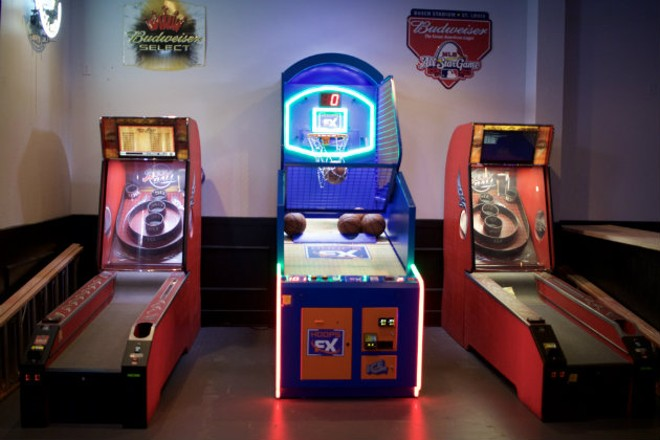 Skee-ball and pop-a-shot basketball are there to help pass the time. - CHERYL BAEHR