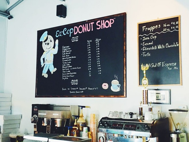 The owner of Ex Cop Donut Shop is having some legal trouble. - BRITTANI SCHLAGER