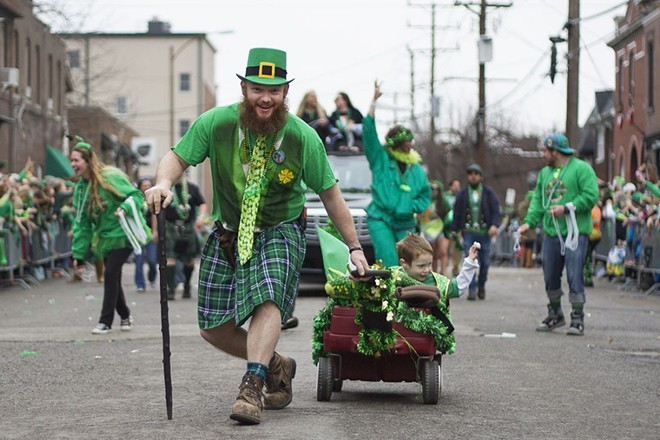 The 2016 parade brought a sea of green to Dogtown. - NICK SCHNELLE