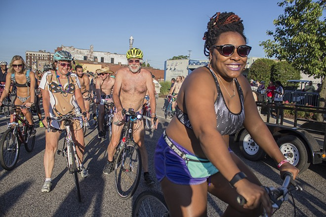 Image from the World Naked Bike Ride 2017 - SARA BANNOURA
