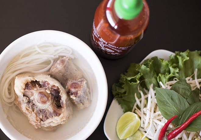The oxtail beef noodle soup is flavorful. - MABEL SUEN