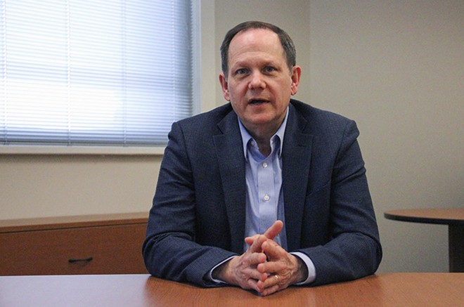 In his final weeks as St. Louis Mayor, Francis Slay shocked city lawmakers by setting Lambert Airport on a path to possible privatization. - DANNY WICENTOWSKI