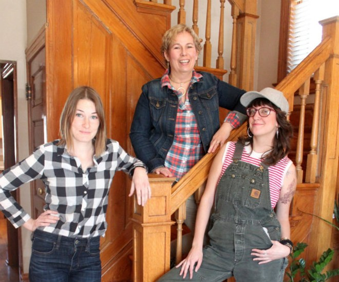 Laura Tetley, Tammy Behm and Laura Caldie are bringing Maypop Coffee & Garden Shop to Webster Groves this May. - MADYSON WINN