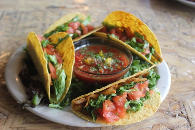 Jackfruit tacos are a great vegan option. - SARAH FENSKE