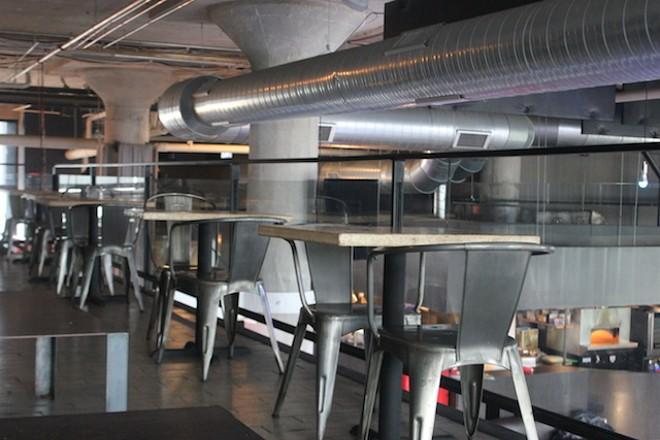 The mezzanine overlooks the expansive dining room. - SARAH FENSKE