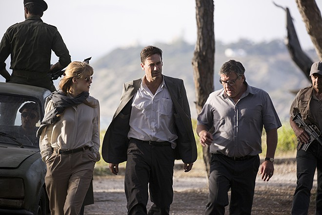 From left, Rosamund Pike, Jon Hamm and Dean Norris work to recover a kidnap victim in Beirut. - SIFE EDDINE EL AMINE/BLEECKER STREET