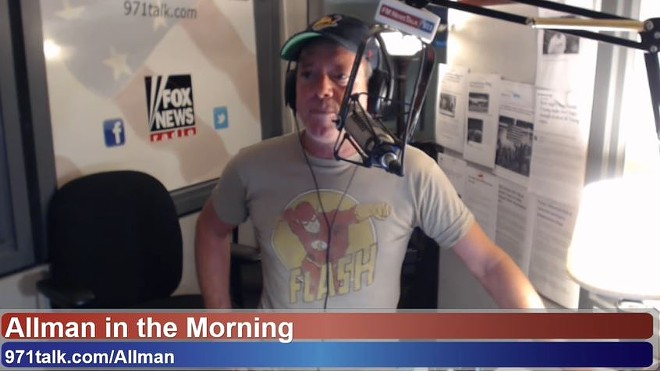 Jamie Allman's morning radio show is no more. - SCREENSHOT VIA YOUTUBE