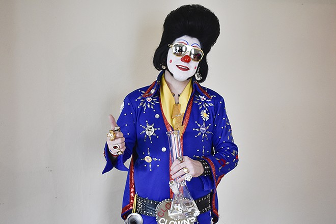 The man. The legend. Clownvis Presley. - PHOTO BY JAIME LEES