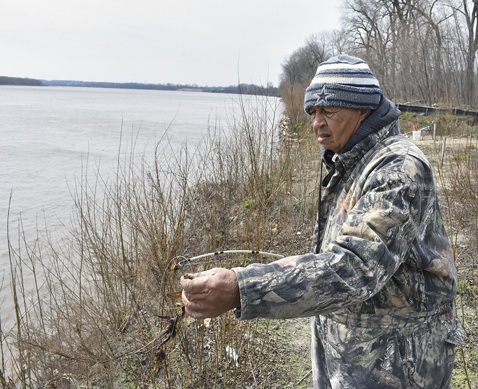 Eddie 'River King' Price is a regular among anglers at North Riverfront Park. - DOYLE MURPHY