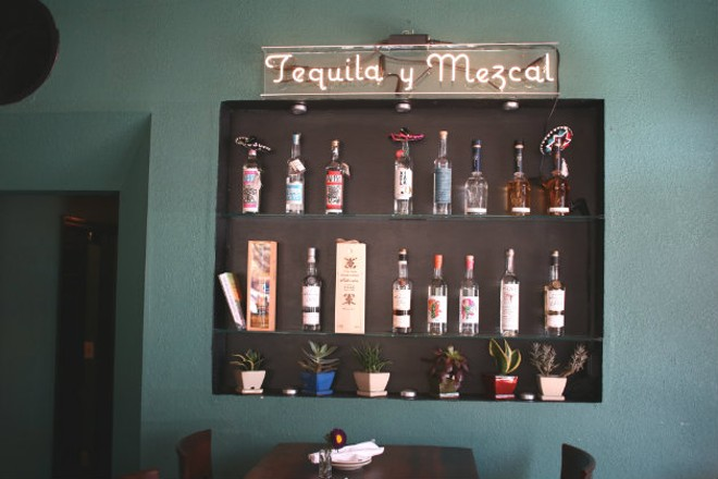 A selection of tequilas and mezcal. - CHERYL BAEHR